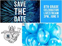 8th grade celebration, 6/9 3pm
